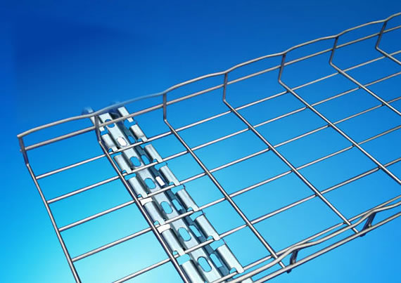 Galvanized Steel Wire Mesh Cable Tray Designed For Short